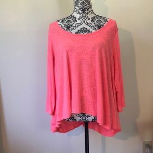 American Eagle Lace Up Back Top